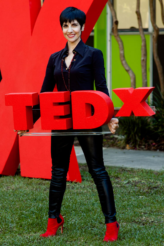 Phyllis and the TEDx sign